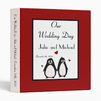 "1"" Photo Binder Scrapbook Penguin Love Couple Mate"