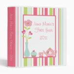 "1"" Photo Binder Scrapbook Tea Party Pink Pastel"