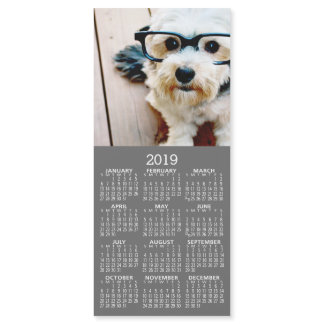 1 Photo Collage 2019 Calendar - Can Edit Color