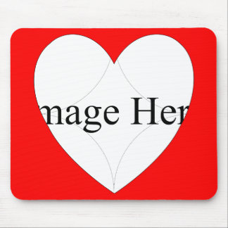 1 Photo Heart Shape Mousepad