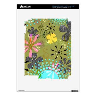 1 piel floral retra del iPad 3 iPad 3 Skins