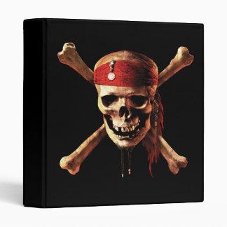 "1"" Pirates of the Caribbean Skull Logo 3 Ring Binder"