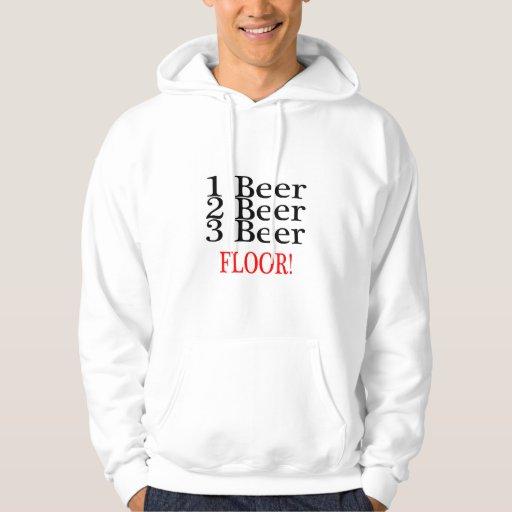1 PISO de la cerveza de la cerveza 3 de la cerveza Sudaderas Con Capucha