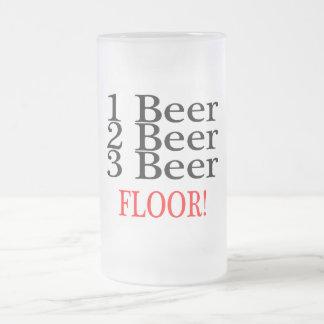 1 PISO de la cerveza de la cerveza 3 de la cerveza Taza De Cristal