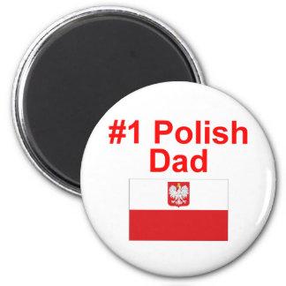 #1 Polish Dad 2 Inch Round Magnet