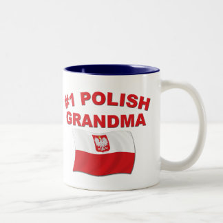 #1 Polish Grandma Two-Tone Coffee Mug