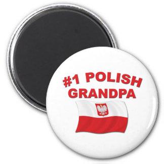 #1 Polish Grandpa 2 Inch Round Magnet