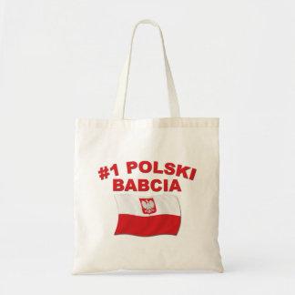 #1 Polski Babcia Bolsas Lienzo