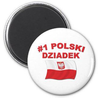 #1 Polski Dziadek 2 Inch Round Magnet