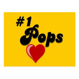 #1 Pops - Celebrate Grandparent's Day Postcards