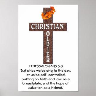 1 POSTER DEL 5:8 DE THESSALONIANS - SOLDADO CRISTI