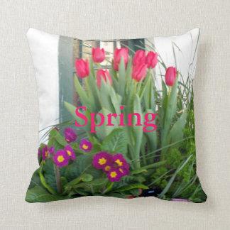 1 Primrose Tulips Throw Pillow