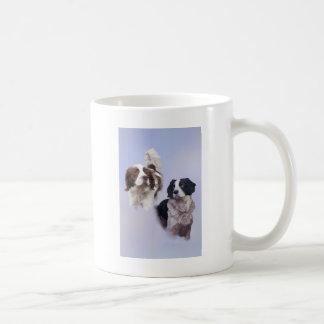 1 PRINT A4 Two dogs blue 19 x 13.jpg Coffee Mug