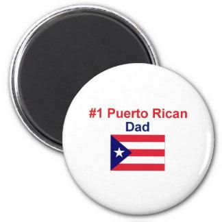 #1 Puerto Rican Dad 2 Inch Round Magnet