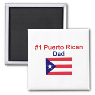 #1 Puerto Rican Dad 2 Inch Square Magnet
