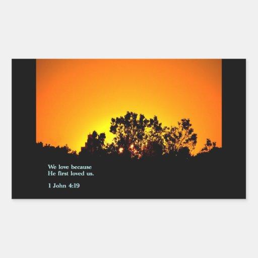 1 puesta del sol del 4:19 de Juan Rectangular Altavoces