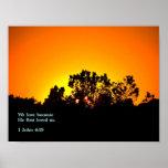 1 puesta del sol del 4:19 de Juan Poster