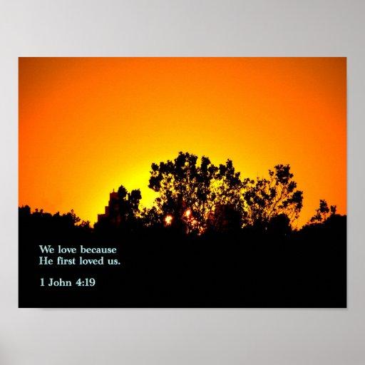1 puesta del sol del 4:19 de Juan Póster