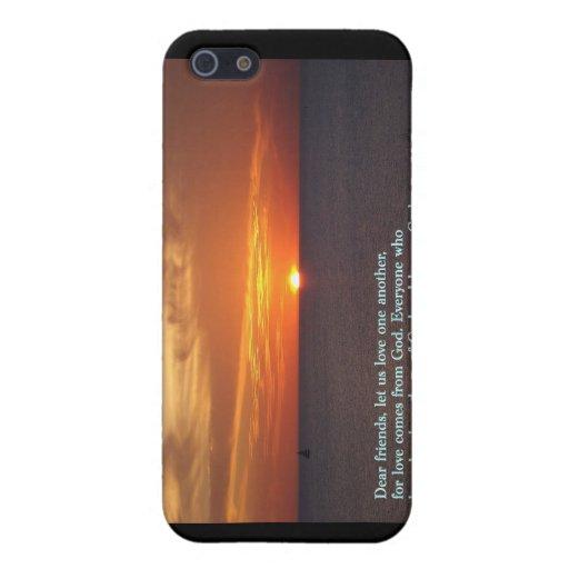 1 puesta del sol del 4:7 de Juan iPhone 5 Cobertura