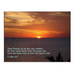 1 puesta del sol del 4:7 de Juan Postal