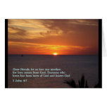 1 puesta del sol del 4:7 de Juan Tarjetas