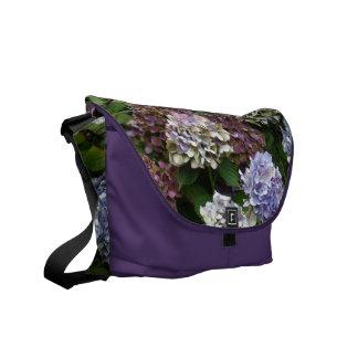 1 Purple Lavender Blue Hydrangeas Messenger Bag