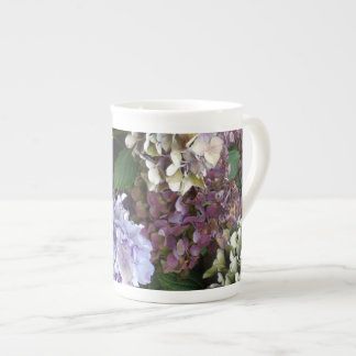 1 Purple Lavender Blue Hydrangeas Tea Cup