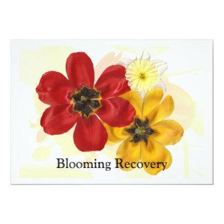 """1 recuperación floreciente invitación 5"""" x 7"""""""