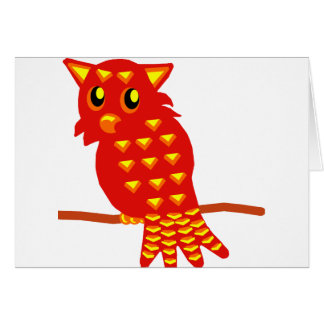 1-Red Owl Card