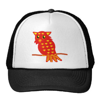 1-Red Owl Trucker Hat