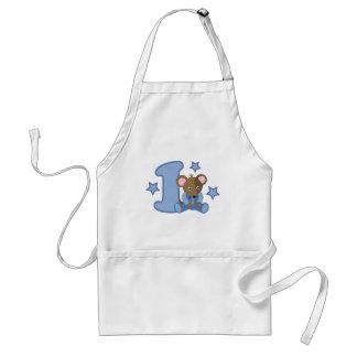 1 regalo de cumpleaños del ratón del bebé del año delantal