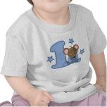 1 regalo de cumpleaños del ratón del bebé del año camisetas