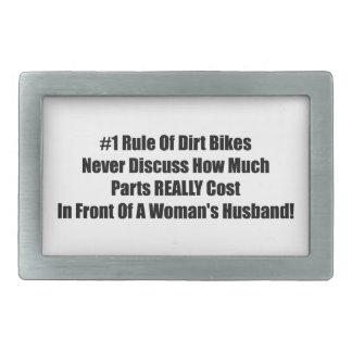 1 regla de bici de la suciedad nunca discute hebilla de cinturon rectangular