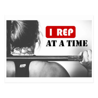 1 Rep at a Time Postcard