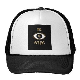 1% repent $ trucker hat
