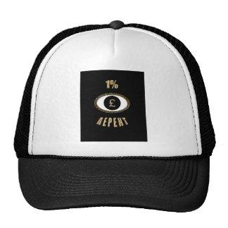 1% repent £ trucker hat