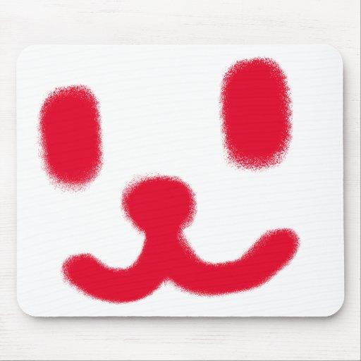 1 rojo sonriente alfombrillas de ratones