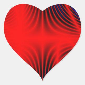 #1 rojo y azul pegatina en forma de corazón