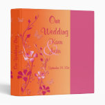 """1"""" rosa y carpeta floral anaranjada del boda"""