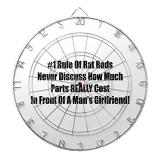 1 Rule Of Rat Rods Never Discuss How Much Girlfrie Dartboard