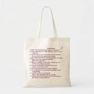 1-SAGITTARIUS Nov 22-Dec 21 tote bag poem