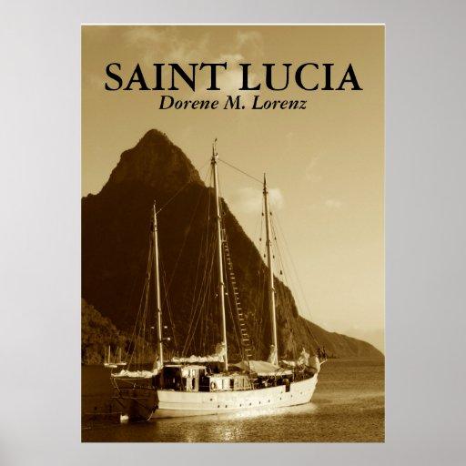 1, SAINT LUCIA POSTER