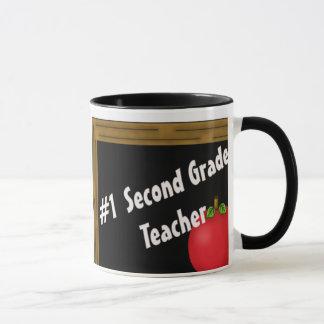 #1 Second Grade Teacher Mug