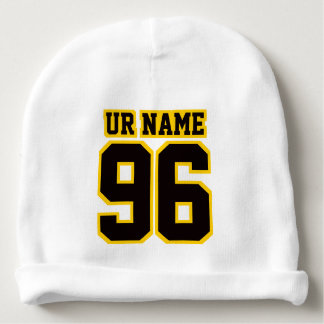 1 Side Beanie WHITE BLACK GOLD Football Jersey