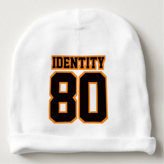 1 Side Beanie WHITE BLACK ORANGE Football Jersey