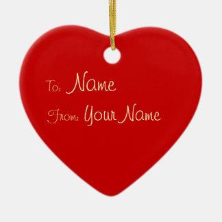 1 SIDE / DIY ~ Gift Tag Ornament Heart / 3x2.8