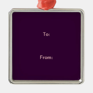 """1 SIDE / DIY ~ Gift Tag Ornament Square 2"""""""
