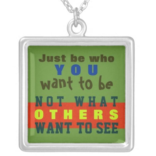 1 Side / JUST BE YOU ~  Square Necklace