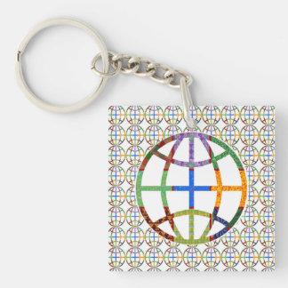 1 side Printed DIY easy add or replace photo image Keychain
