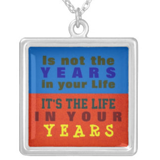 1 Side / YOUR YEARS ~  Square Necklace